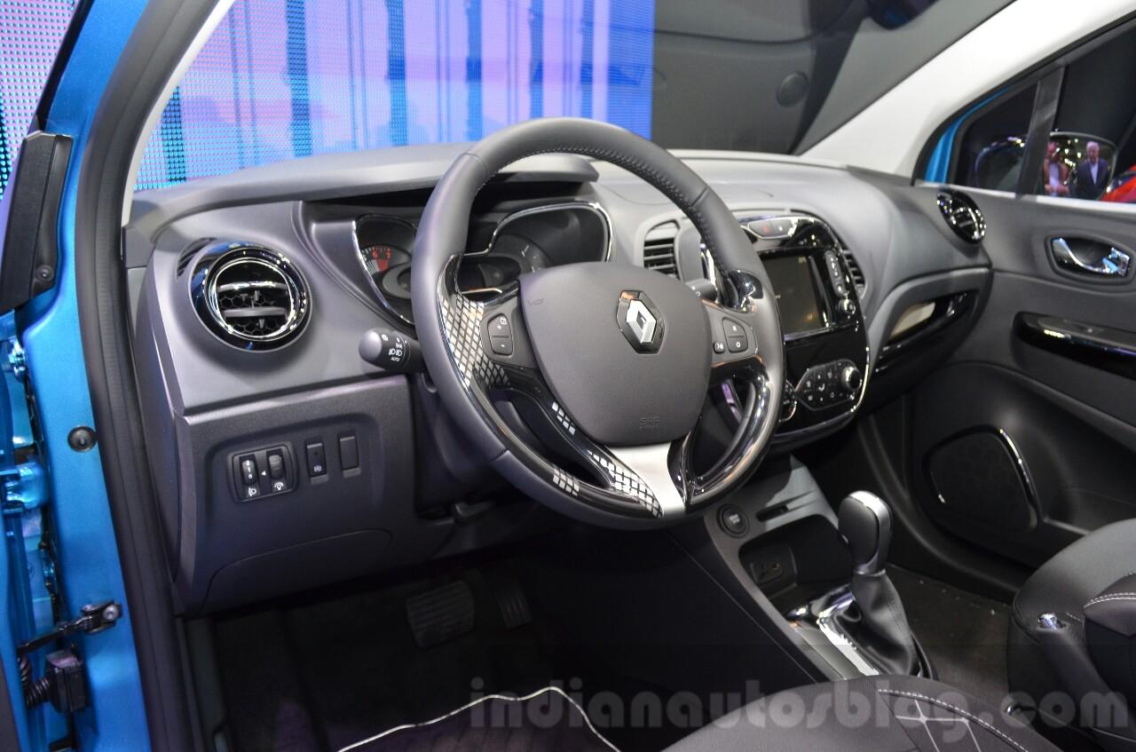 Renault Captur interior at the 2016 Geneva Motor Show