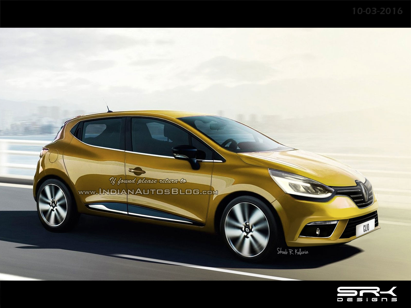 2016 renault clio facelift rendering. Black Bedroom Furniture Sets. Home Design Ideas