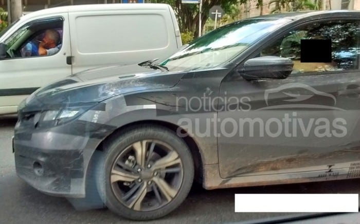 South American-spec 2016 2016 Honda Civic spy shot