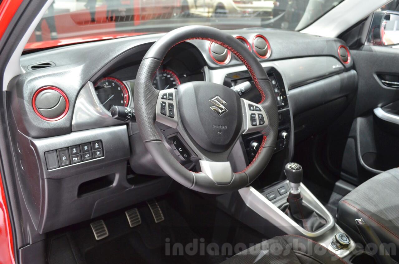 Suzuki Vitara S with 1.4L Boosterjet interior at Geneva Motor Show 2016