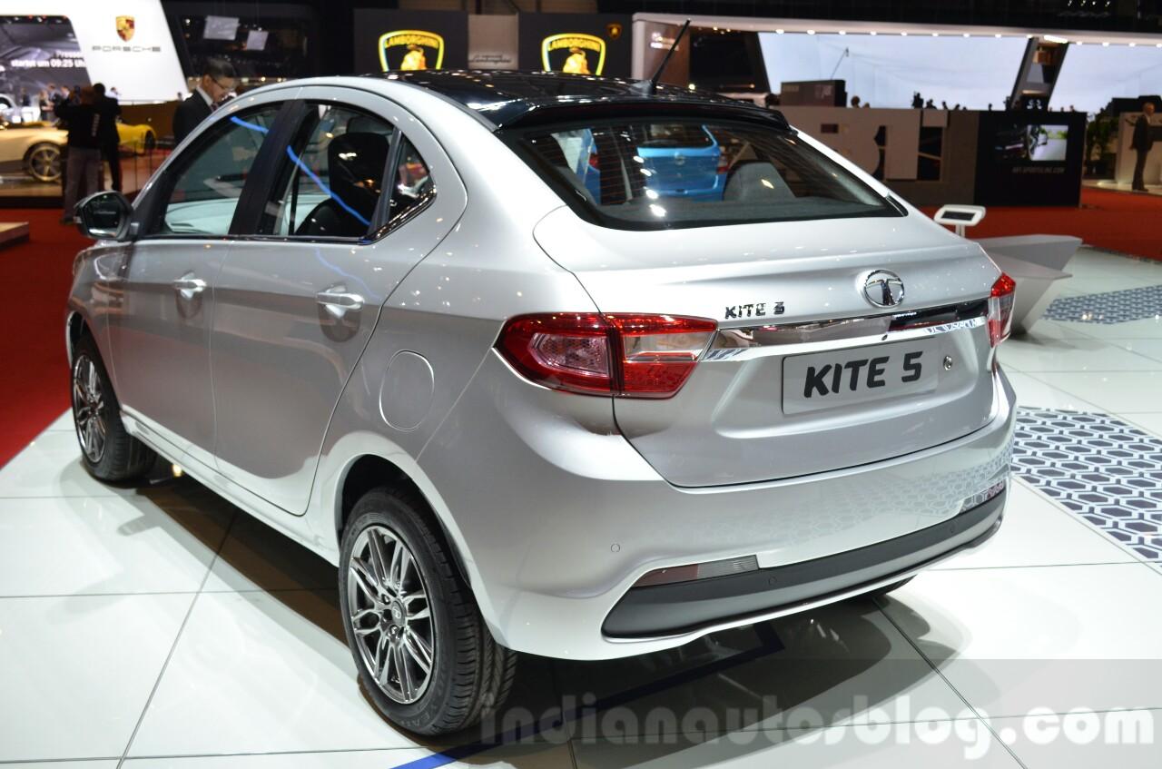 Tata KITE 5 rear quarter at the 2016 Geneva Motor Show