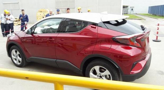 Toyota C-HR side spied post debut