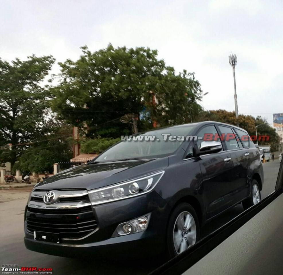 Toyota Innova Crysta front quarter spotted on Indian roads