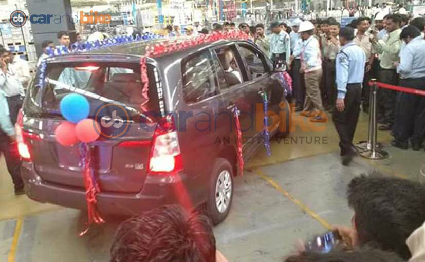Toyota Innova production stopped