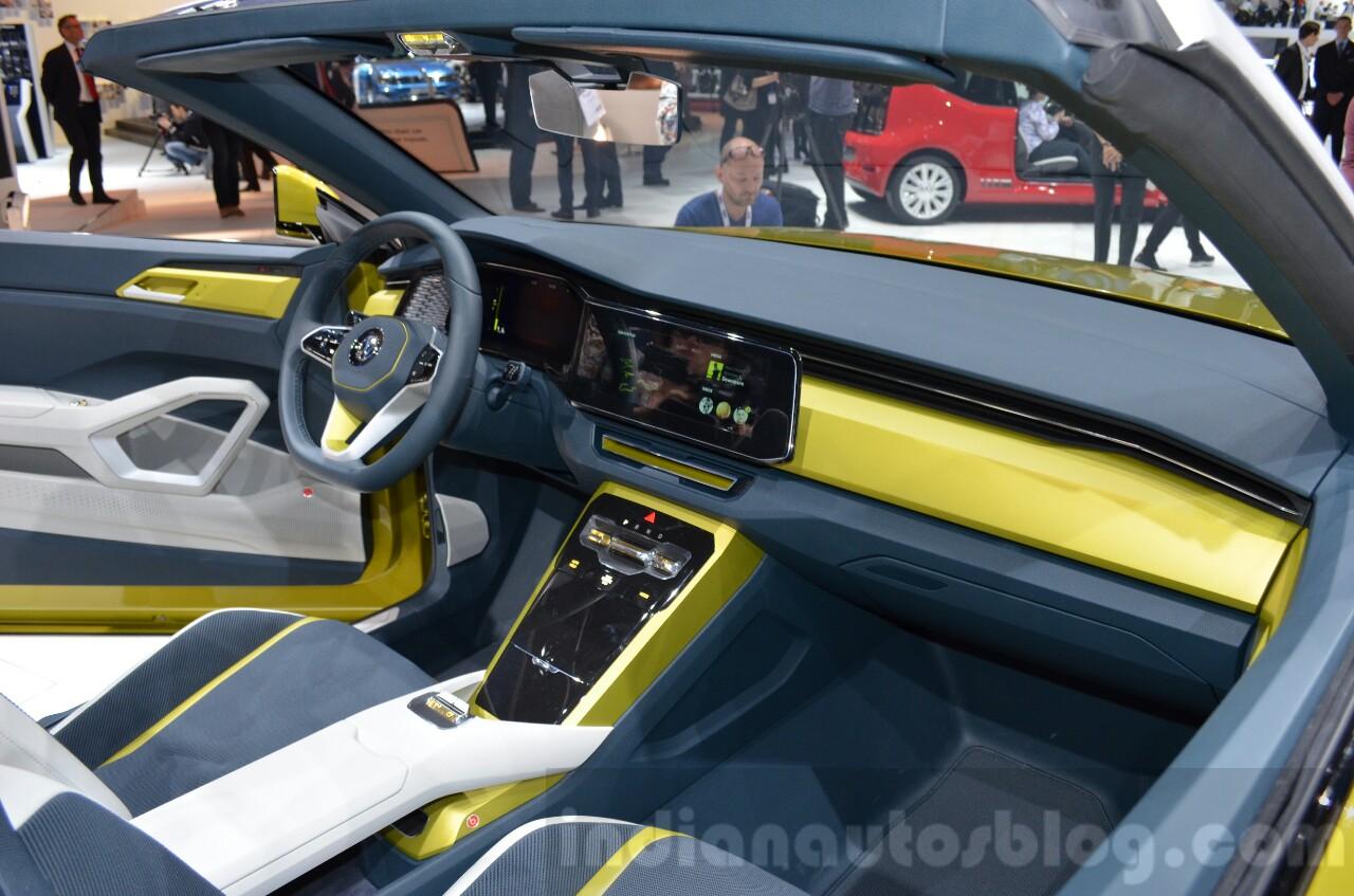VW T-Cross Breeze concept interior at the Geneva Motor Show Live