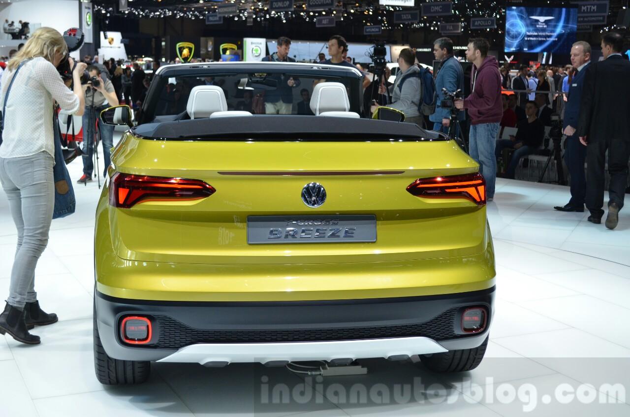 VW T-Cross Breeze concept rear at the Geneva Motor Show Live