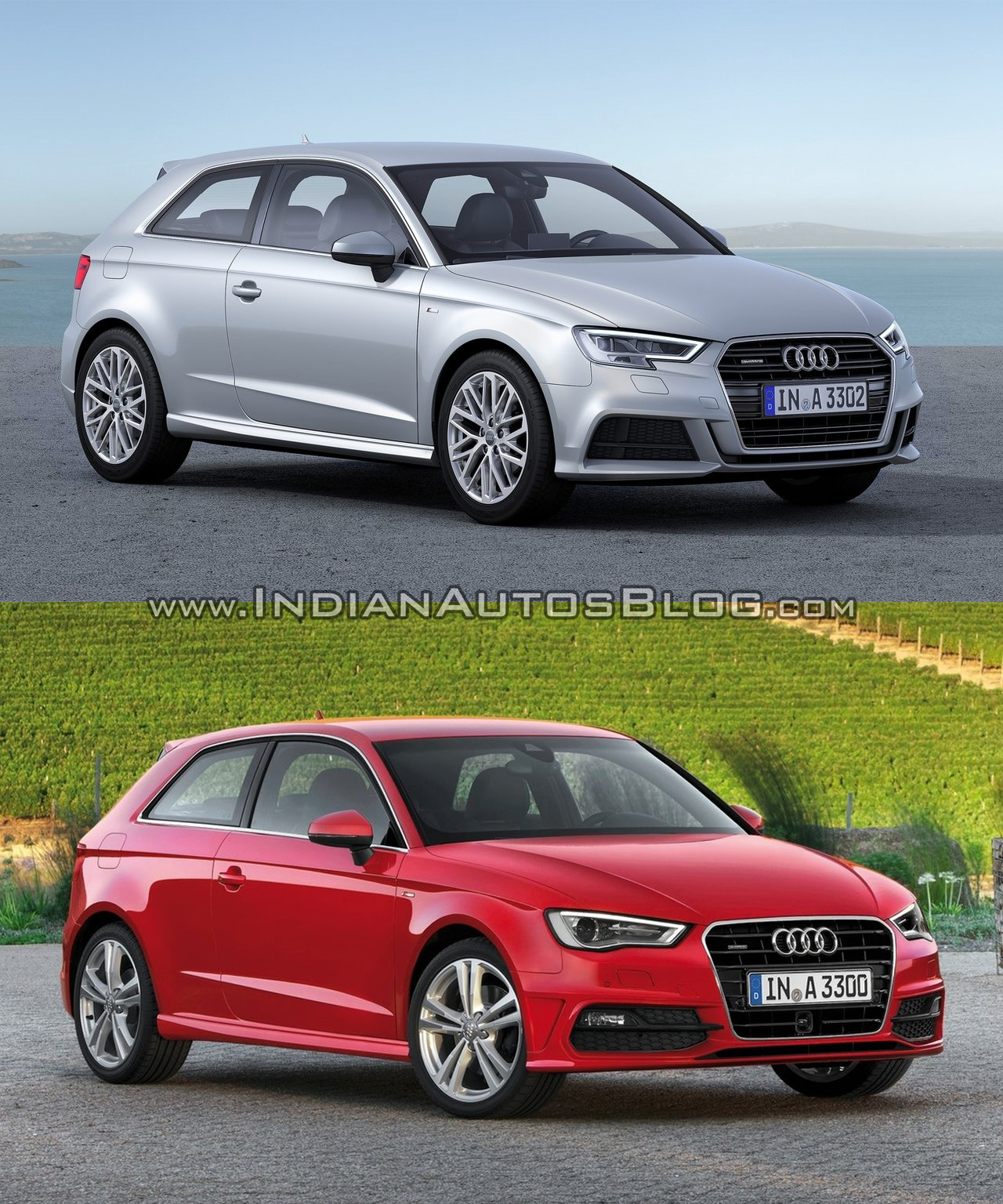 2016 audi a3 hatchback facelift old vs new. Black Bedroom Furniture Sets. Home Design Ideas