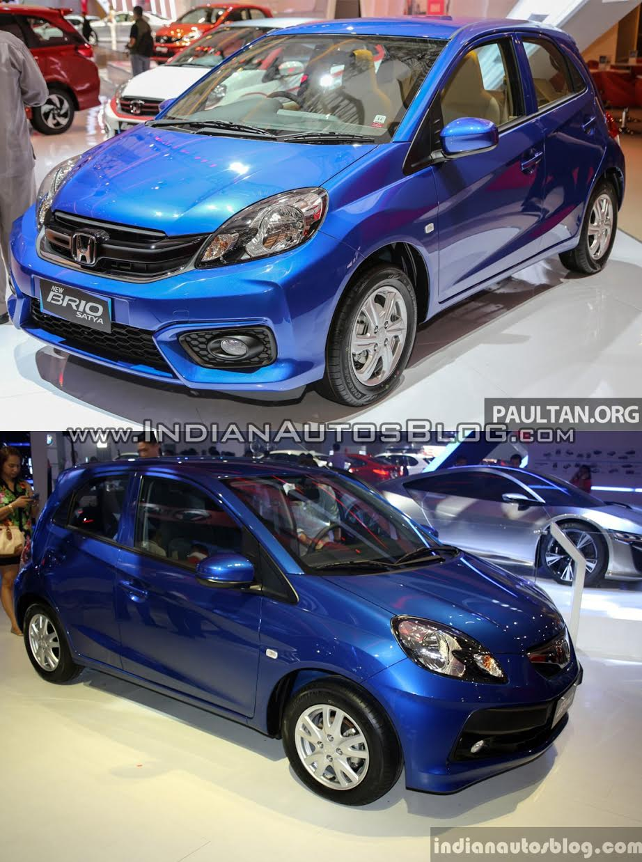 Honda Brio Facelift Vs Outgoing Honda Brio Front Three Quarter Old Vs New