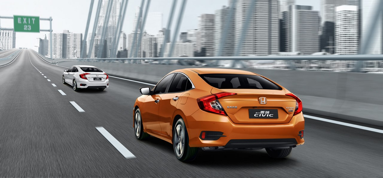 2016 Honda Civic China-spec rear three quarters