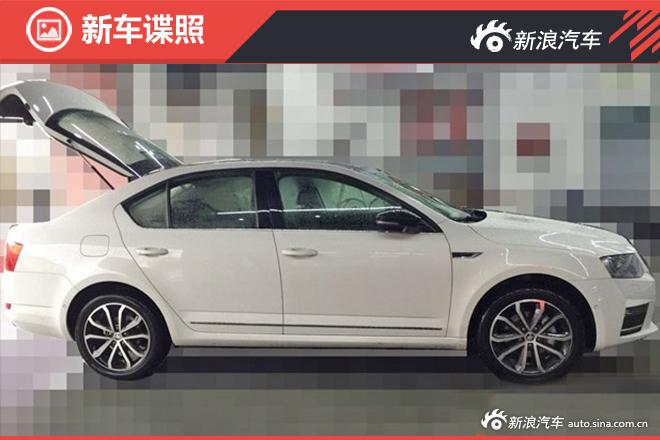 2016 Skoda Octavia side profile spy shot China