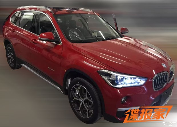 BMW X1 long-wheelbase front three quarters spy shot