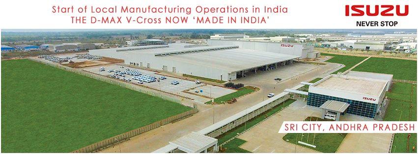 Isuzu D-Max V-Cross production facility in Sri City, AP