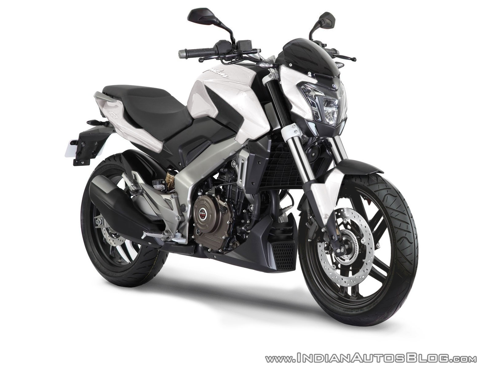 Production Bajaj Pulsar CS400 White