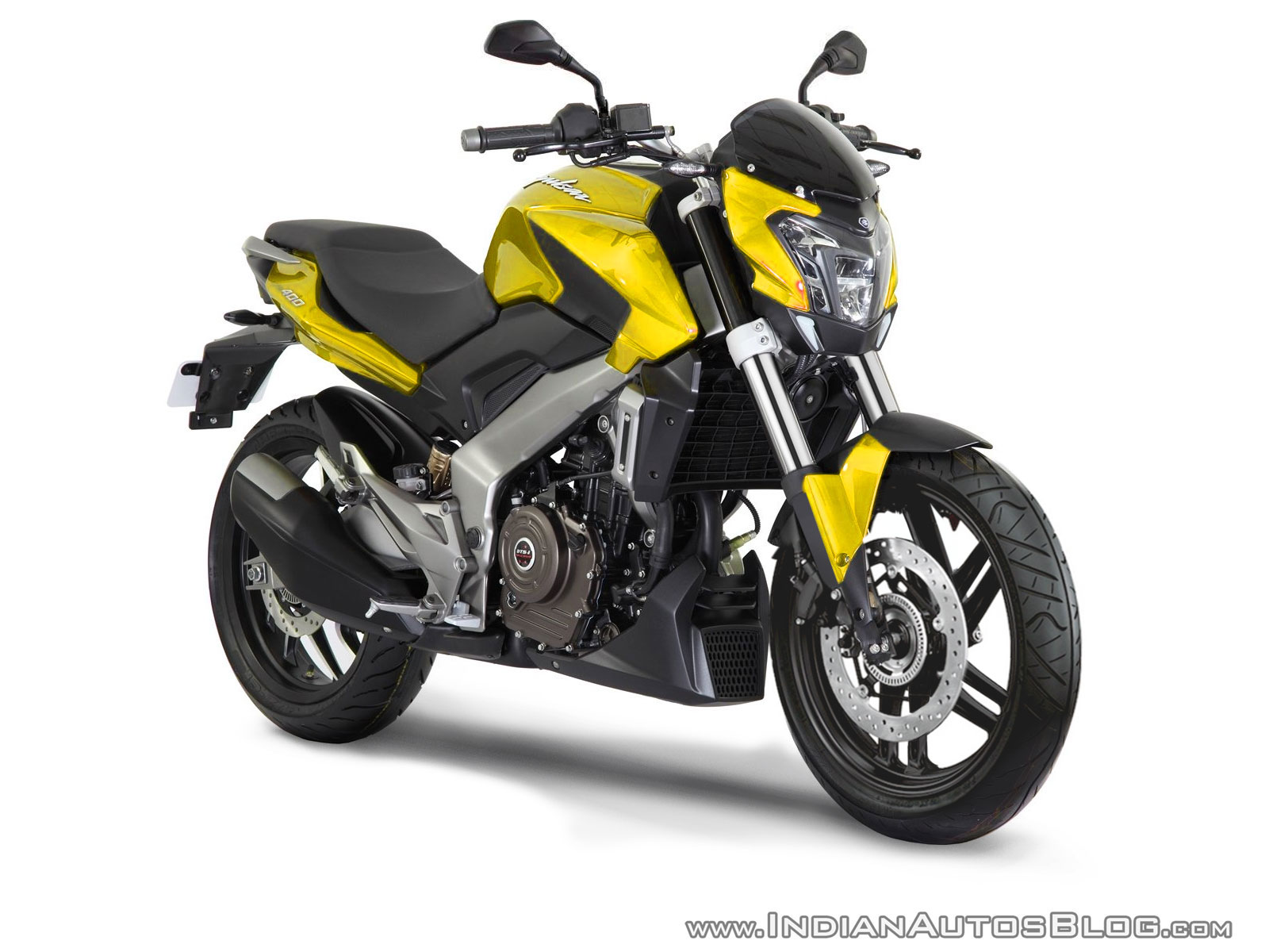 Production Bajaj Pulsar CS400 Yellow