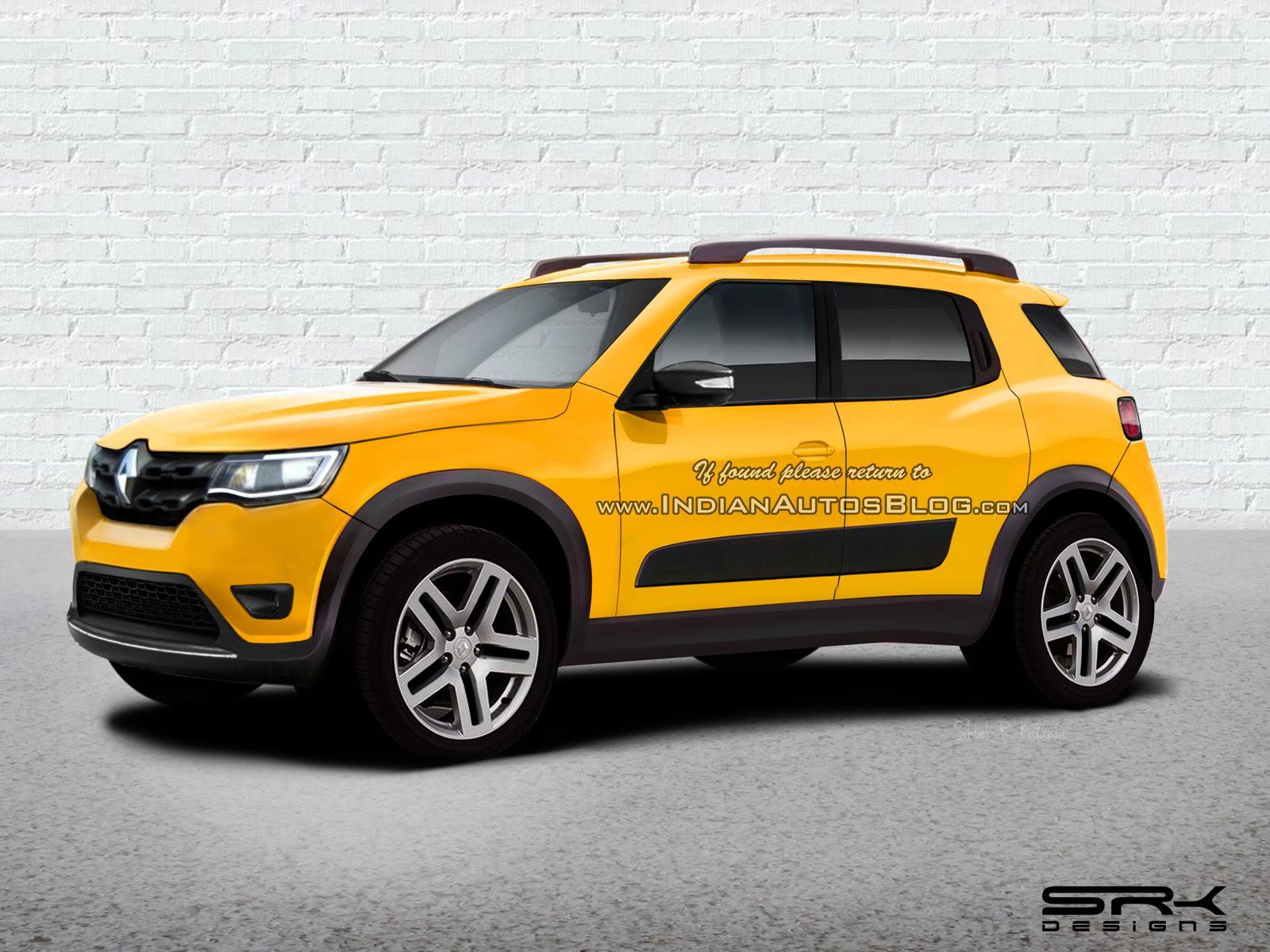 Renault HBC (Renault Kwid-based compact SUV) Rendering