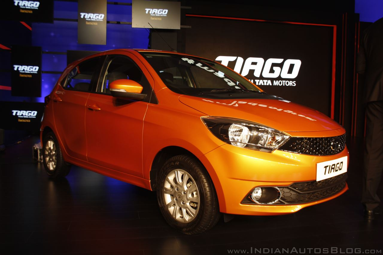Tata Tiago front three quarter launched