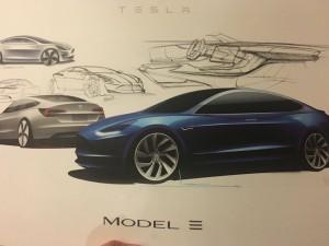 Tesla Model 3 sketch