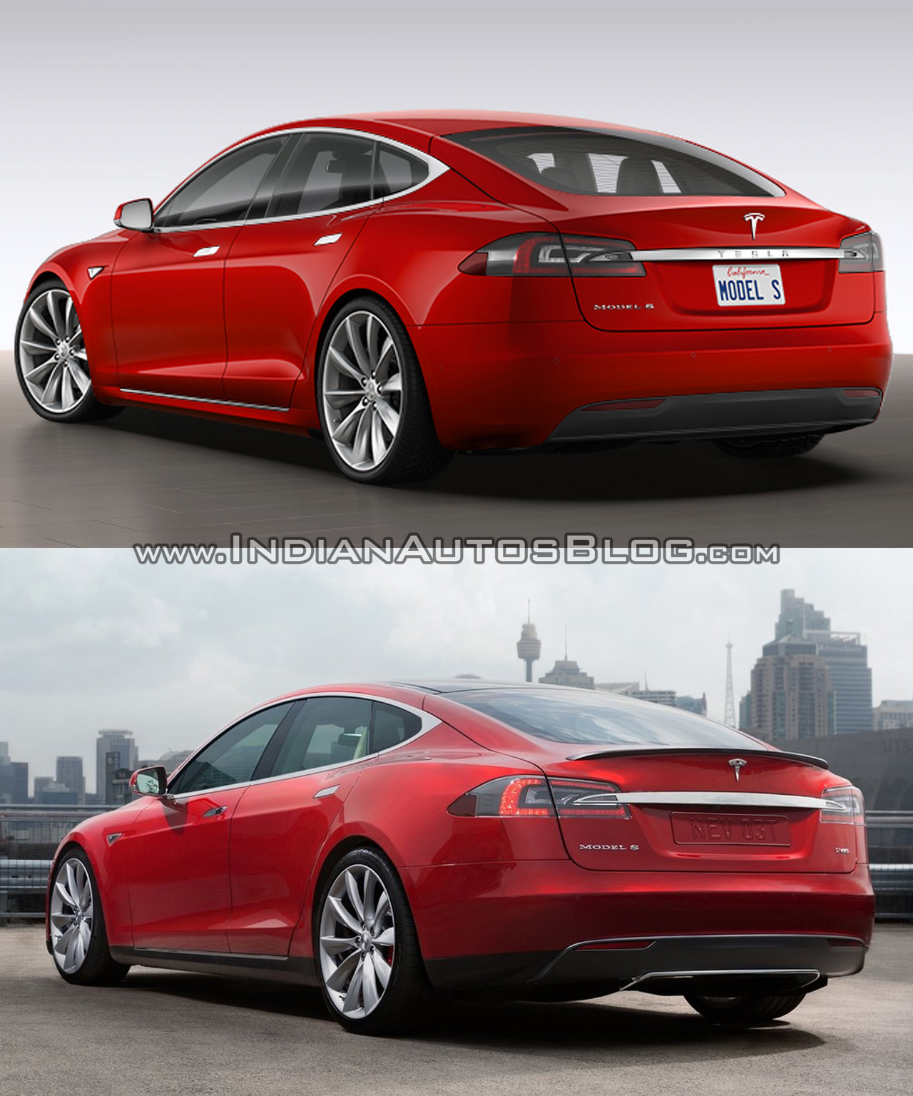 Tesla Model S old vs. new
