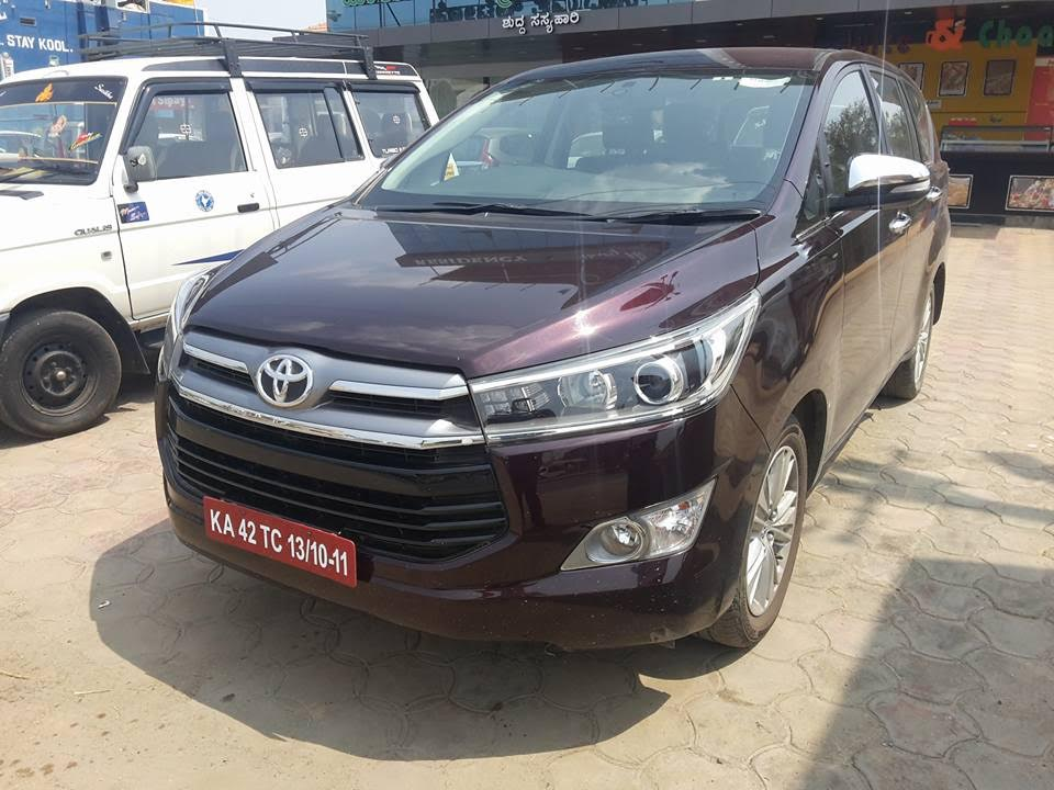 Toyota Innova Crysta front spied in Bangalore