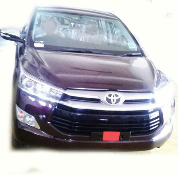 Toyota Innova Crysta spied at dealership ahead of launch