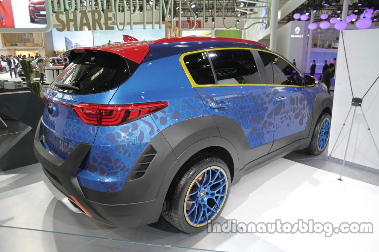 X-Men-inspired Kia KX5 (Kia Sportage) at Auto China 2016 rear three quarters