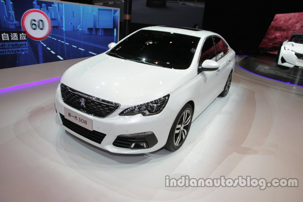 2016 Peugeot 308 Sedan at Auto China 2016 front three quarters