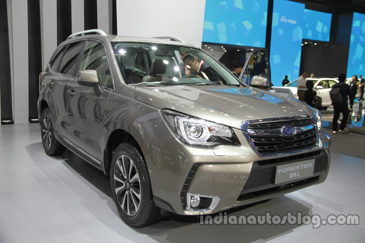 2016 Subaru Forester front three quarters at Auto China 2016