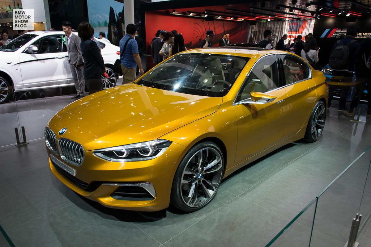 BMW Concept Compact Sedan front three quarters left side at Auto China 2016