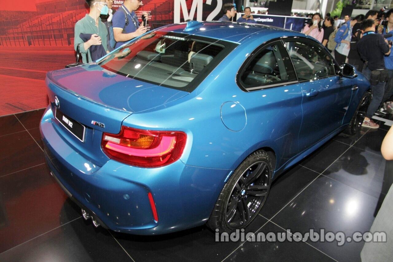 BMW M2 rear three quarters at Auto China 2016