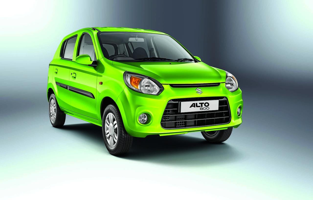 Maruti Alto 800 facelift front quarter press shots