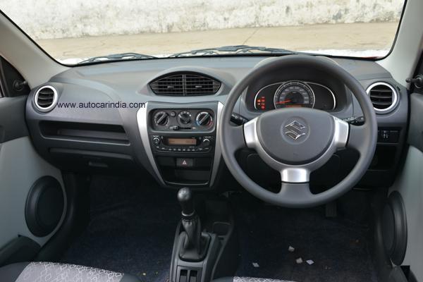 New Maruti Alto 800 (facelift) dashboard
