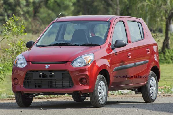 New Maruti Alto 800 (facelift) front three quarters