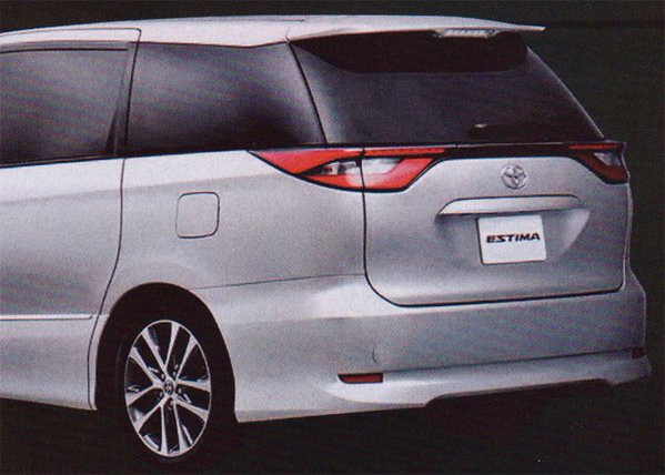 New leaks reveal the rear of the 2017 Toyota Previa