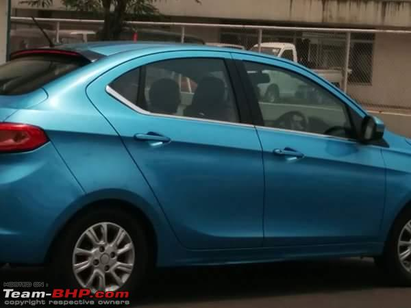 Tata Kite 5 compact sedan side spied in new color