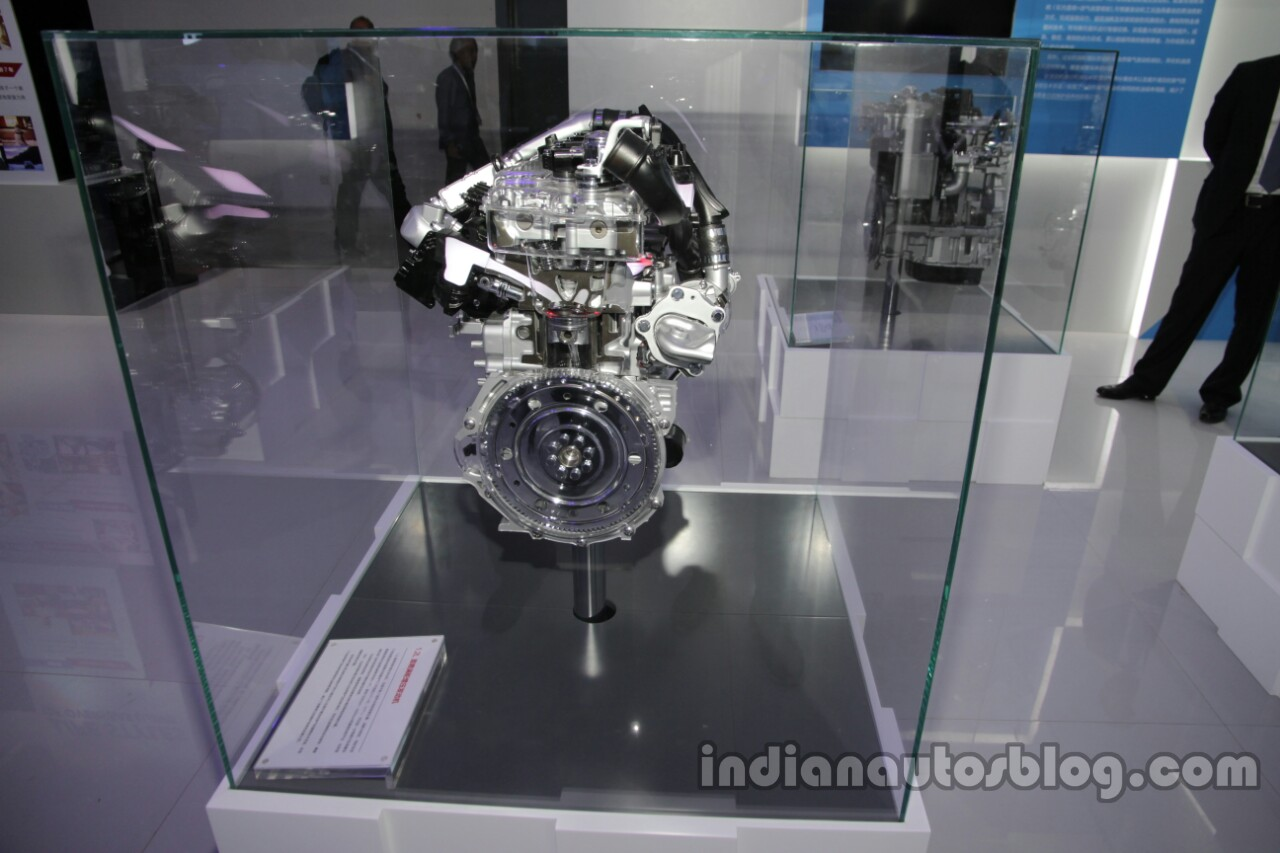 Toyota 1.2-litre turbocharged four-cylinder engine at Auto China 2016