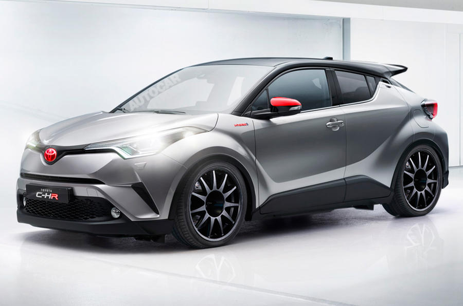 Toyota C-HR performance variant rendering