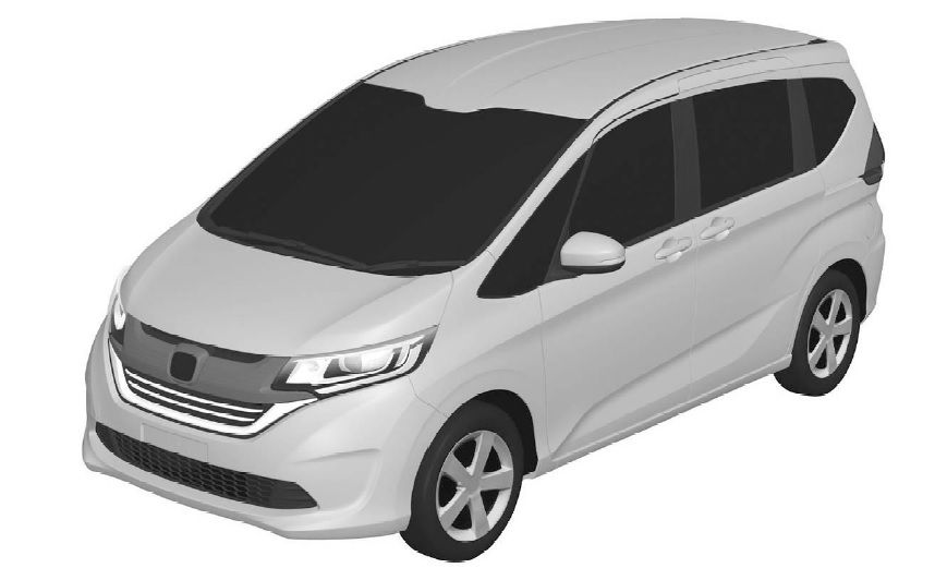 2016 Honda Freed MPV's front three quarter patent design leaked