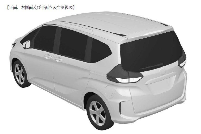 2016 Honda Freed MPV's rear three quarter patent design leaked