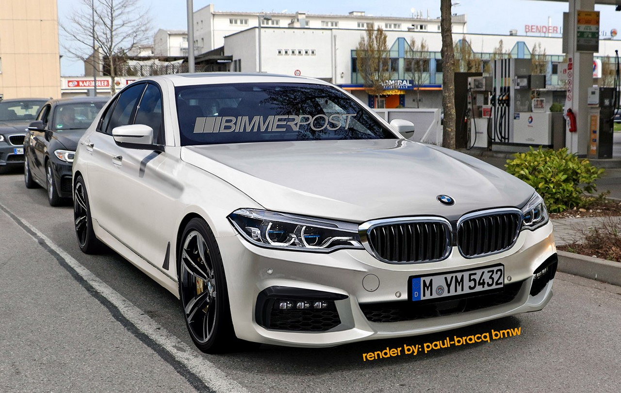 2017 bmw 5 series m sport exterior rendering. Black Bedroom Furniture Sets. Home Design Ideas