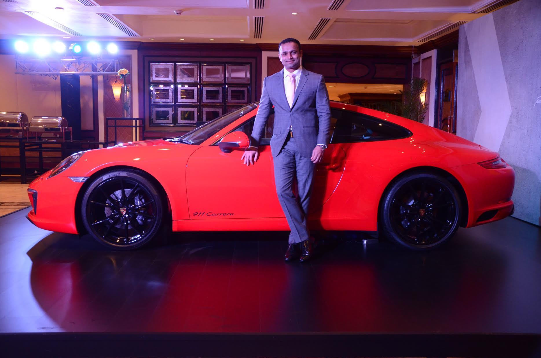 2017 Porsche 911 Carrera side launch in India