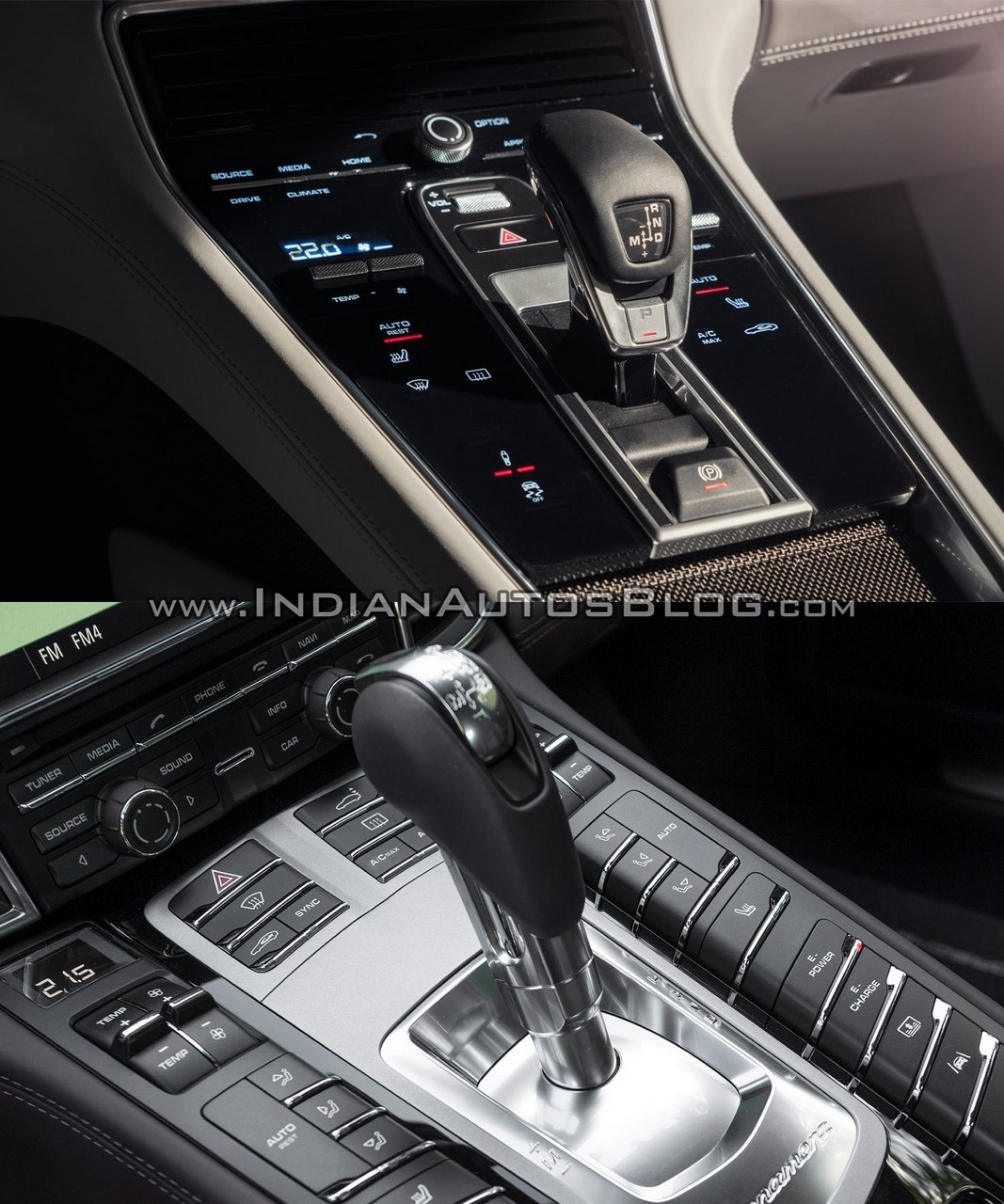 2017 Porsche Panamera Vs 2014 Interior Centre Tunnel