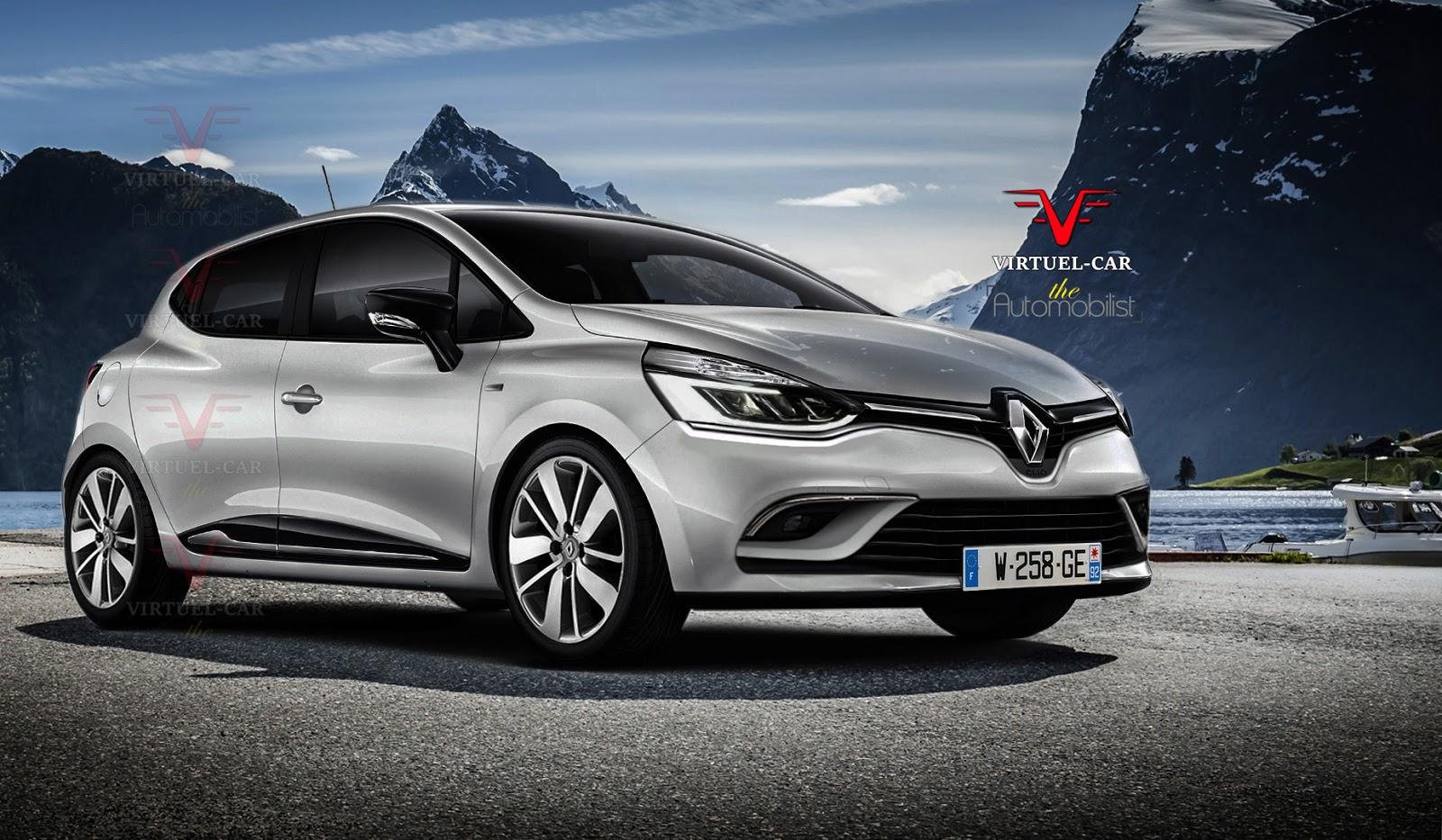 2017 Renault Clio Facelift Rendering