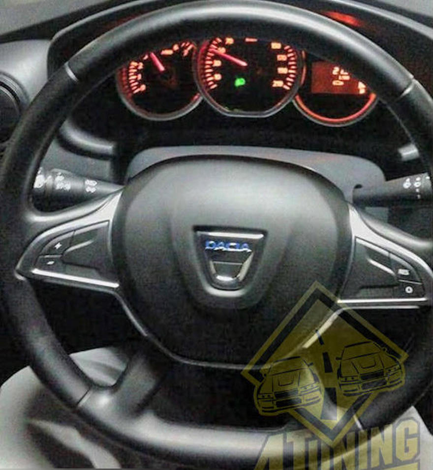 2017 Renault Duster's steering wheel photographed