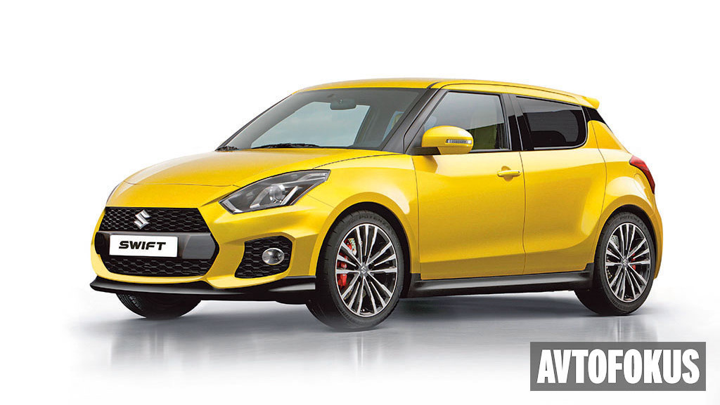 2017 Suzuki Swift front three quarters rendering