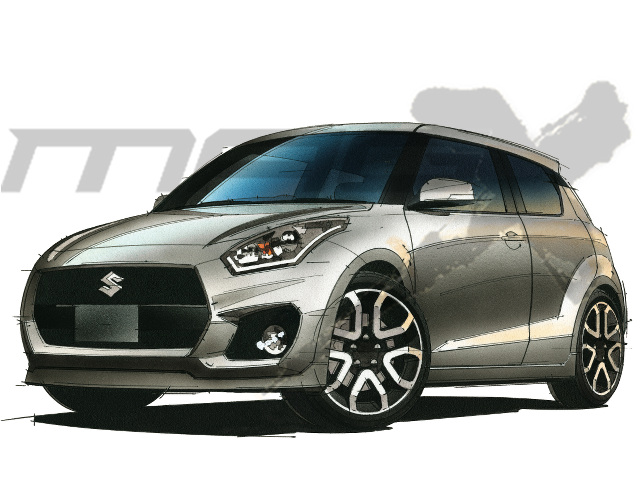2017 Suzuki Swift rendering