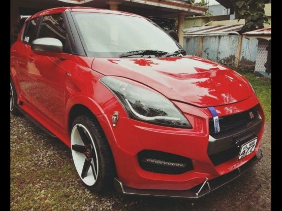 Custom Maruti Swift Nissan GT-R body kit front