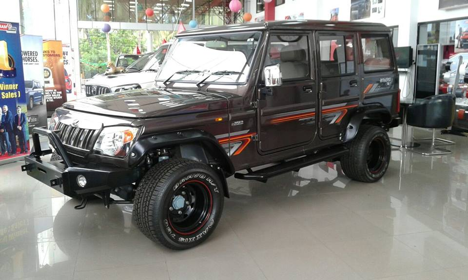 Modified Mahindra Bolero Front Three Quarter Spied At A
