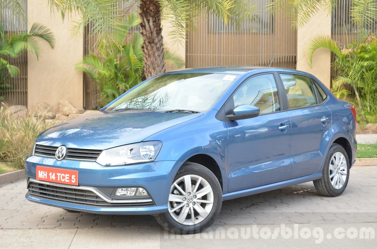VW Ameo 1.2 Petrol front three quarters Review