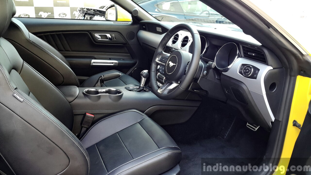 2016 Ford Mustang GT in India cabin First Drive Review
