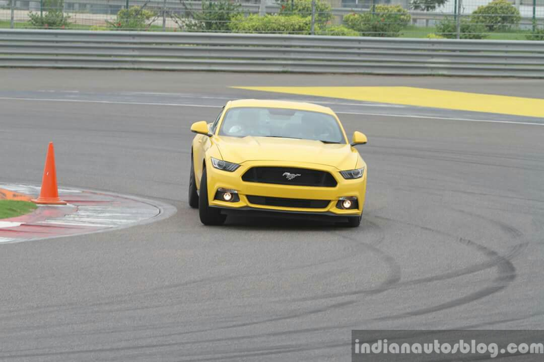 2016 Ford Mustang GT in India cornering First Drive Review